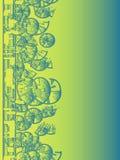 Fondo geométrico del verde azul stock de ilustración