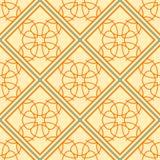 Fondo geométrico elegante hecho de modelo decorativo floral Vector Foto de archivo libre de regalías