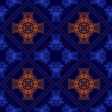 Fondo geométrico elegante hecho de modelo decorativo floral Vector Imágenes de archivo libres de regalías