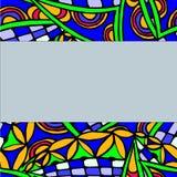 Fondo geométrico hecho de modelos dibujados mano Imagen de archivo libre de regalías
