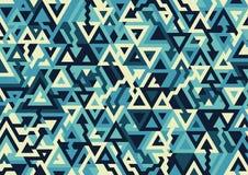 Fondo geométrico horizontal de moda Campo abstracto del modelo del triángulo stock de ilustración