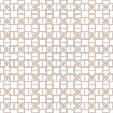 Fondo geométrico inconsútil decorativo del modelo del vector Fotos de archivo libres de regalías