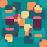 Fondo geométrico inconsútil del modelo del color Fotos de archivo