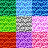 Fondo geométrico inconsútil determinado 002 del modelo del volumen Fotos de archivo libres de regalías