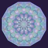 Fondo geométrico iridiscente redondo Fotos de archivo