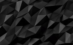 Fondo geométrico negro abstracto Textura del oro con la sombra 3d rinden fotos de archivo