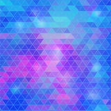 Fondo geométrico poligonal colorido con los triángulos Formas brillantes abstractas Foto de archivo