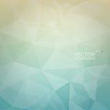 Fondo geométrico poligonal con el contexto azul claro y beige de la pendiente Fotografía de archivo libre de regalías