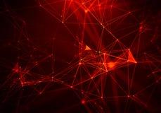 Fondo geométrico rojo abstracto Estilo futurista de la tecnología Muestra de neón Tecnología futurista HUD Element Fotos de archivo
