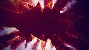 Fondo geométrico rojo abstracto Estructura de la conexión Fondo de la ciencia Tecnología futurista HUD Element Imagen de archivo libre de regalías
