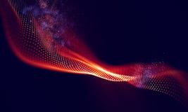 Fondo geométrico rojo abstracto Estructura de la conexión Fondo de la ciencia Tecnología futurista HUD Element Fotos de archivo libres de regalías