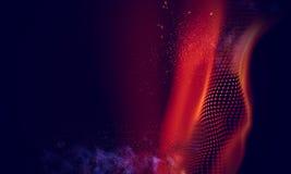 Fondo geométrico rojo abstracto Estructura de la conexión Fondo de la ciencia Tecnología futurista HUD Element Fotografía de archivo libre de regalías