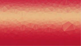Fondo geométrico rojo con los polígonos triangulares Diseño abstracto Ilustración del vector Imágenes de archivo libres de regalías