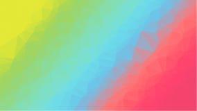 Fondo geométrico rojo con los polígonos triangulares Diseño abstracto Ilustración del vector Foto de archivo