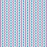 Fondo geométrico rosado abstracto de la tela del modelo de Diamond Blue Scribble Zig Zag Imagen de archivo