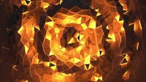 Fondo geométrico triangular brillante abstracto del lazo almacen de metraje de vídeo