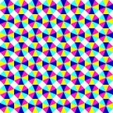 Fondo geometic astratto, modello festivo con differenti forme Colori luminosi e vivi di 80s, stile al neon 90s seamless immagine stock