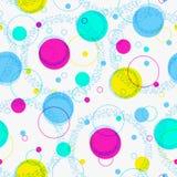 Fondo geometic astratto, modello festivo con differenti forme geometriche Colori luminosi e vivi di 80s, stile al neon 90s immagini stock libere da diritti