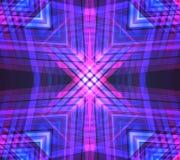 Fondo geometrico al neon di vettore Fotografie Stock Libere da Diritti