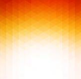 Fondo geometrico arancio astratto di tecnologia Fotografia Stock