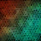 Fondo geometrico astratto che consiste sovrapponendo gli elementi triangolari a colori Fotografia Stock
