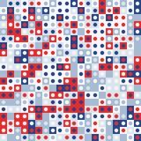 Fondo geometrico astratto colorato casuale bianco blu rosso del modello di mosaico Fotografie Stock