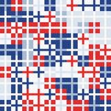 Fondo geometrico astratto colorato casuale bianco blu rosso del modello di mosaico Fotografia Stock Libera da Diritti