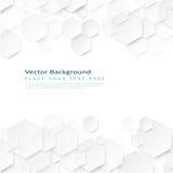 Fondo geometrico astratto con gli esagoni Immagine Stock