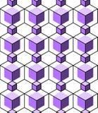 Fondo geometrico astratto con i cubi isometrici Fotografia Stock Libera da Diritti