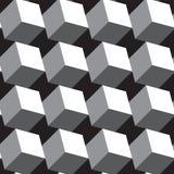 Fondo geometrico astratto con i cubi isometrici Fotografia Stock