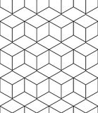 Fondo geometrico astratto con i cubi isometrici Immagine Stock Libera da Diritti