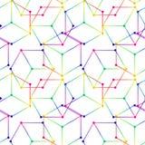 Fondo geometrico astratto con i cubi isometrici Immagini Stock Libere da Diritti