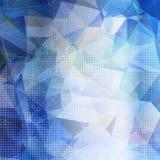 Fondo geometrico astratto con i triangoli blu Fotografie Stock Libere da Diritti