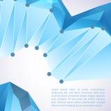 Fondo geometrico astratto 3D Fotografia Stock