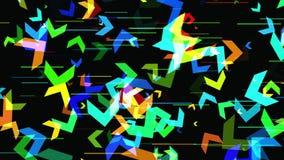 Fondo geometrico astratto 3D Superficie geometrica nel moto illustrazione vettoriale