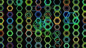 Fondo geometrico astratto 3D Superficie geometrica nel moto video d archivio