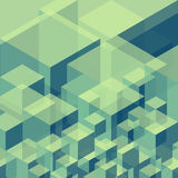 Fondo geometrico astratto dai cubi Fotografia Stock