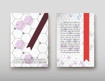 Fondo geometrico astratto del DNA, disposizione nell'ombra stabilita di vettore del modello di progettazione dell'aletta di filat Illustrazione Vettoriale