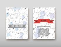 Fondo geometrico astratto del DNA, disposizione nell'ombra stabilita di vettore del modello di progettazione dell'aletta di filat Royalty Illustrazione gratis