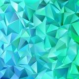 Fondo geometrico astratto del mosaico delle mattonelle del triangolo di Teal - progettazione grafica di vettore dai triangoli Immagine Stock