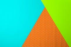 Fondo geometrico astratto della carta colorata Fotografia Stock Libera da Diritti