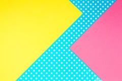 Fondo geometrico astratto della carta colorata Fotografia Stock