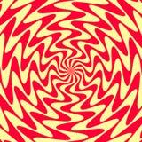 Fondo geometrico astratto delle linee Effetto a spirale Fotografia Stock Libera da Diritti