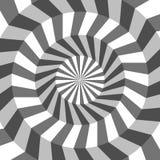 Fondo geometrico astratto delle linee Effetto a spirale St moderna Immagine Stock