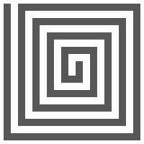 Fondo geometrico astratto delle linee Effetto a spirale St moderna Immagini Stock