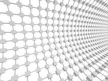 Fondo geometrico astratto di bianco dei cubi Fotografie Stock