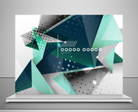 Fondo geometrico astratto di forma Immagine Stock
