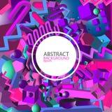 Fondo geometrico astratto di ultravioletto 3d - vector eps10 Immagine Stock Libera da Diritti