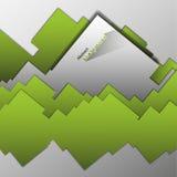 Fondo geometrico astratto di vettore dei quadrati Fotografia Stock
