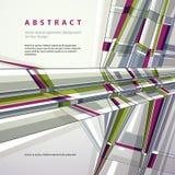 Fondo geometrico astratto di vettore, stile moderno Fotografie Stock